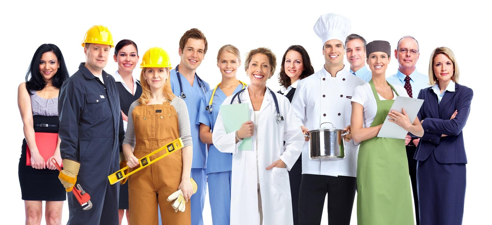 Gruppe von Menschen aus unterschiedlichen Branchen